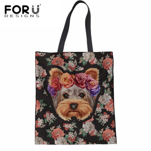 Adorable Floral Yorkshire Terrier Doggie Handbag - Doggie Jewels