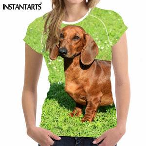 Women T Shirt 3D Dachshund Dog - various breeds and sizes available in selection - Doggie Jewels