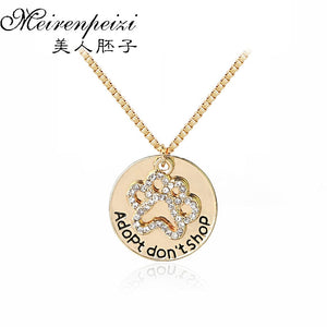 Adopt don't shop rescue necklace - gold and silver available - Doggie Jewels