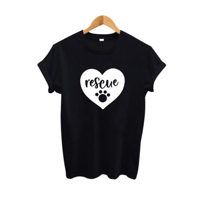 Cute Animal Lover Rescue T-shirt - Rescue - Doggie Jewels