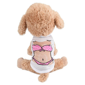 Beach Babe Cute Doggie T-shirt - Doggie Jewels