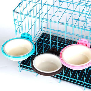 Prevent Overturning Hanging Bowl Food/Water Container Doggie Cage - Doggie Jewels