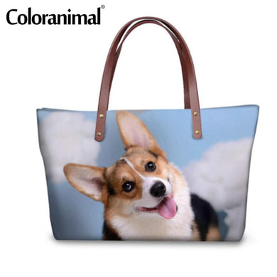 Doggie Casual Tote Shopper Bag Reusable 3D - Various Animal Prints in Selection - Doggie Jewels