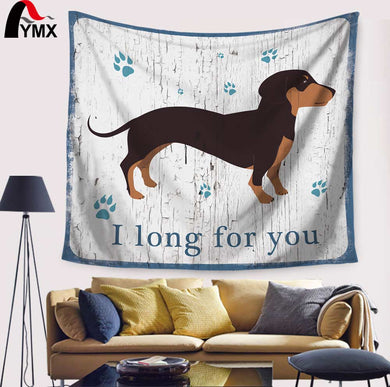 Indian Printing Cartoon Dog Tapestry Wall Hanging Blanket - Doggie Jewels