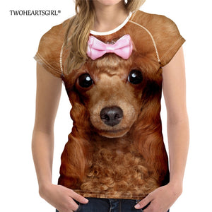Realistic Comfortable Quality Dog 3D T Shirt  - various breeds available - Doggie Jewels