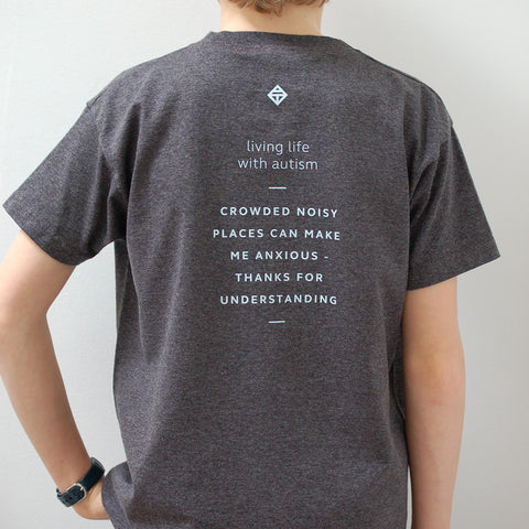 children's sensory caption t-shirt