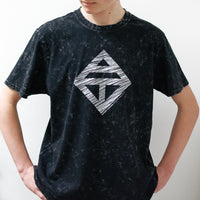 Unisex washed black logo t-shirt