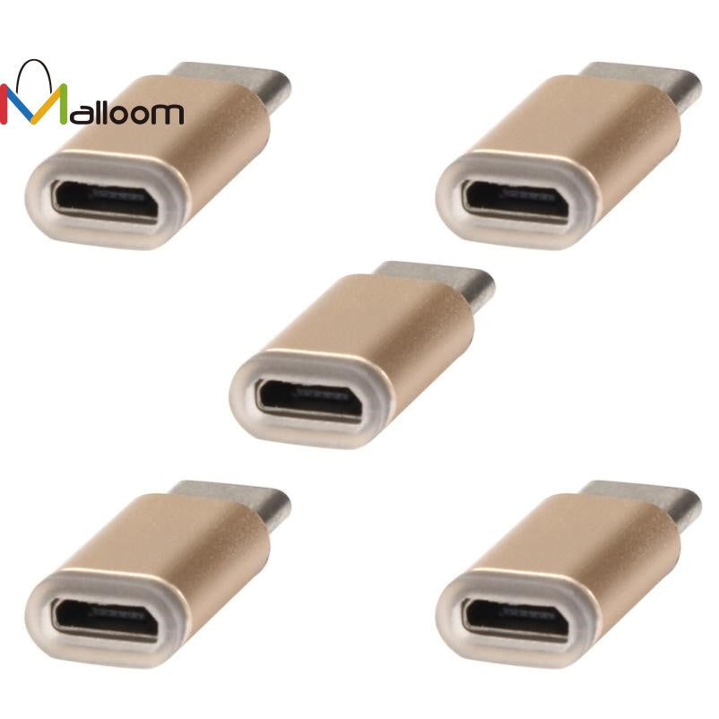 5PC PC Accessories Micro Usb Adapter USB-C Type-C To Micro USB Data Charging Adapter For Android Phone