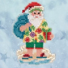 Santa Cruise Ornament (2020) by Mill Hill