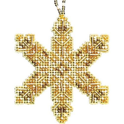 Golden Snowflake Beaded Ornament MH21-2012 by Mill Hill