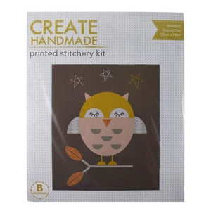 Nature Owl Stitchery Kit by Create Handmade
