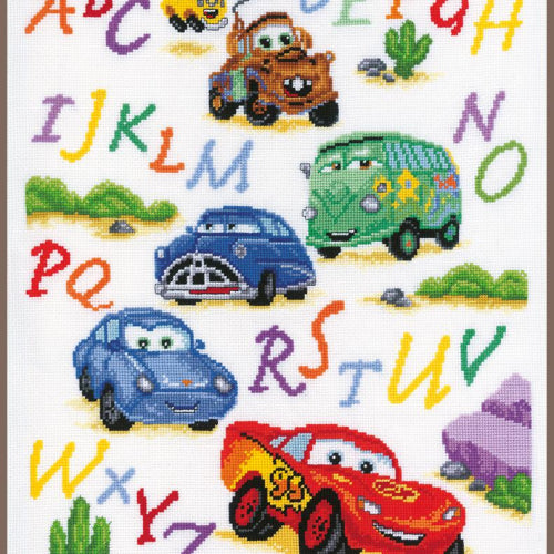 Disney Cars Alphabet Sampler by Vervaco  PN-0014877