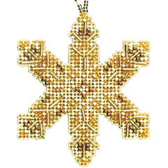 Victorian Snowflake Beaded Ornament MH21-2014 by Mill Hill