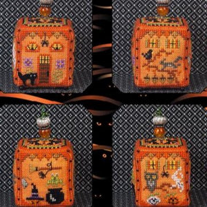 Witchy Pumpkin Cottage and Embellishments by Just Nan