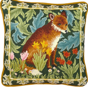 Woodland Fox Tapestry Cushion Kit by Bothy Threads