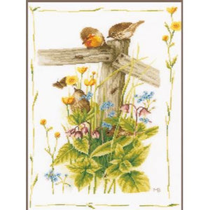 Cozy Garden Corner Counted Cross Stitch Kit by Lanarte - PN0180560