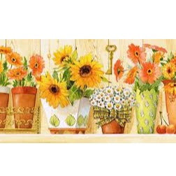 Sunflowers and Daisies  Tapestry Canvas by Grafitec