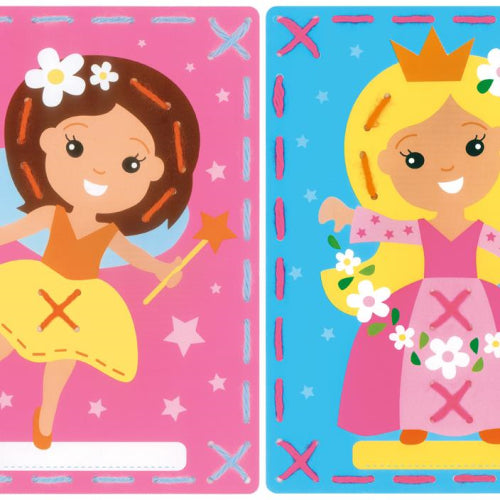 I Stitch Fairy and Princess Embroidery Card Set of 2 by Vervaco