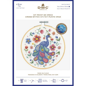 DMC Peacocks in Bloom Counted Cross Stitch Kit