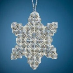 Crystal Snowflake Beaded Ornament MH21-2011 by Mill Hill