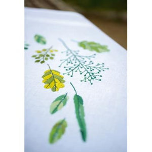 Leaves and Grass Embroidered Table Cloth by Vervaco - PN0170838