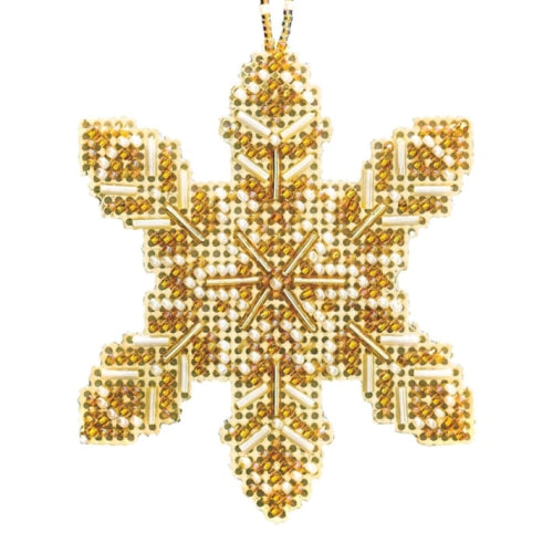 Pearl Snowflake Beaded Ornament MH21-2016 by Mill Hill