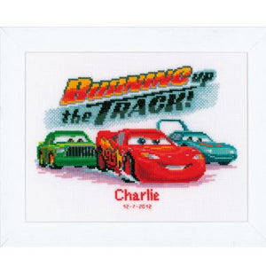 Disney Lightning McQueen Birth Sampler by Vervaco - PN-0014801