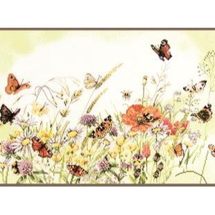 Flowers and Butterflies Counted Cross Stitch Kit by Lanarte - PN0007967