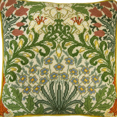 William Morris Garden Tapestry Cushion by Bothy Threads