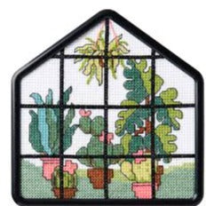 Greenhouse Beginner Counted Cross Stitch Kit by Bucilla