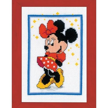 Minnie Mouse Disney Cross Stitch Kit by Lanarte