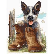 Bluey's Boot Tapestry by Country Threads