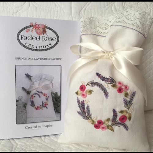 Springtime Lavender Sachet by Faded Rose Creations