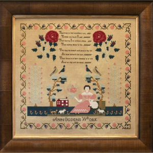 Ann Ogden 1843 by Hands Across the Sea Samplers