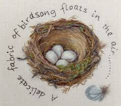 Feather Nest Kit by Windflower Embroidery