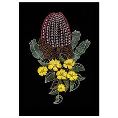 Banksia And Guinea Flowers By Helene Wild