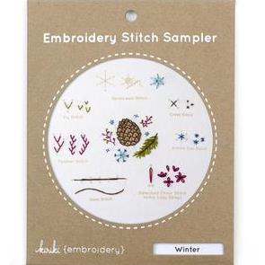 Winter Embroidery Stitch Sampler by Kiriki Press