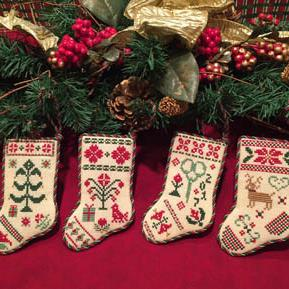Christmas Stocking Ornaments by ScissorTail Designs