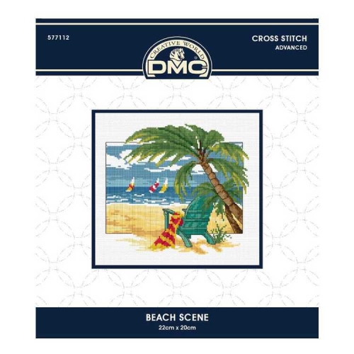 Beach Scene Cross Stitch by DMC