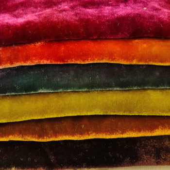 Hand Dyed Silk/Rayon Velvet - Colour Streams