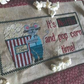 Netflix and Popcorn by Romy's Creations With Threads