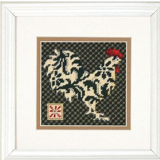 Black and White Rooster Needlepoint Kit by Dimensions