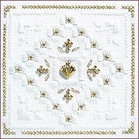 Christmas Gold Beyond Cross Stitch Kit by Victoria Sampler