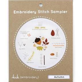 Autumn Embroidery Stitch Sampler by Kiriki Press