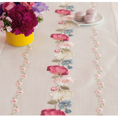 Rico Table Runner 67368 Flower Tendril