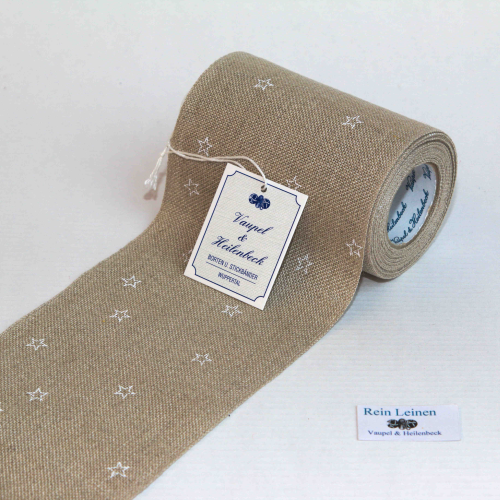 Linen Band 28CT with Stars 10cm Wide