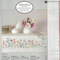 Rico Embroidered Flower Meadow table Cloth 67382