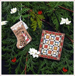 Gingerbread Quilty Ornaments By Victoria Sampler