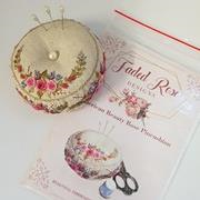 American Beauty Rose Pincushion by Faded Rose Designs