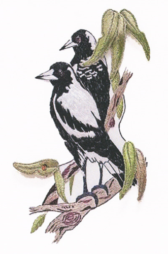 Magpies With Eucalyptus Kit By Rajmahal